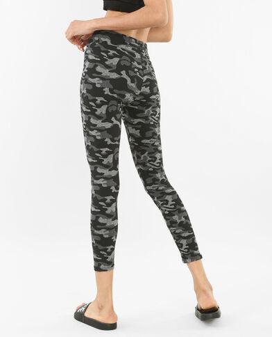 Bedrukte running legging gemêleerd grijs