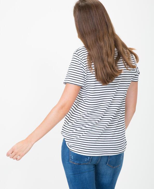 T-Shirt met V-hals ecru