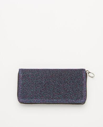 Lange portefeuille met glitter blauw