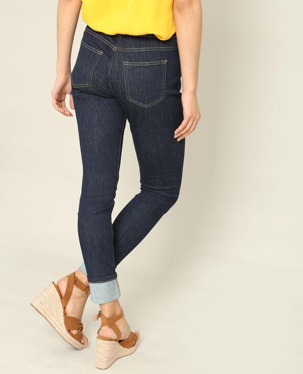 Jean slim mid waist bleu