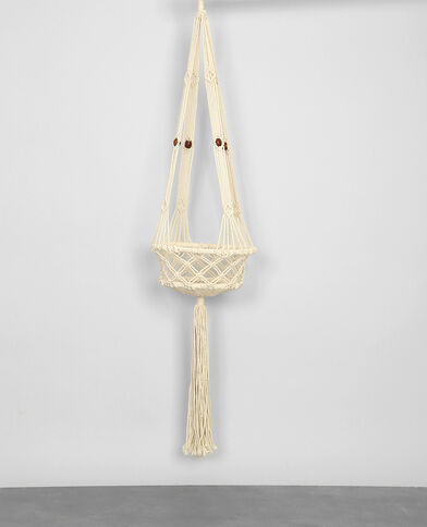 Suspension macramé écru