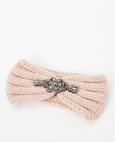 Headband à bijoux rose