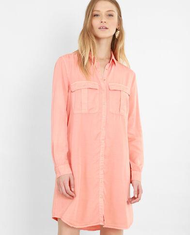 Robe chemise orange
