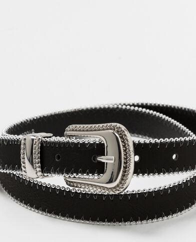 Tweekleurige riem zwart