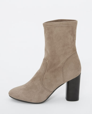 Boots effet peau marron