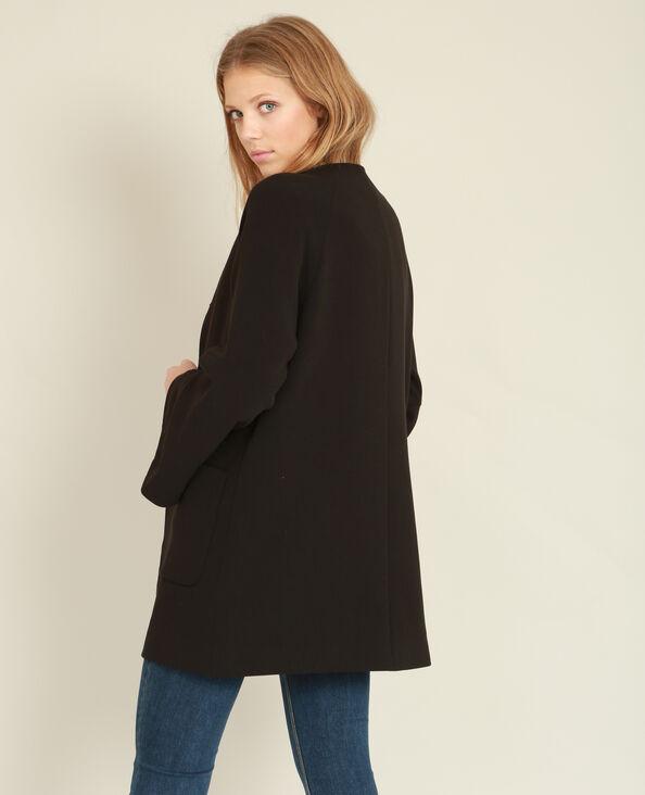 Manteau mi-long à manches pagode noir