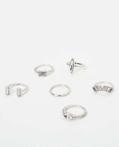 Set van 6 originele ringen grijs
