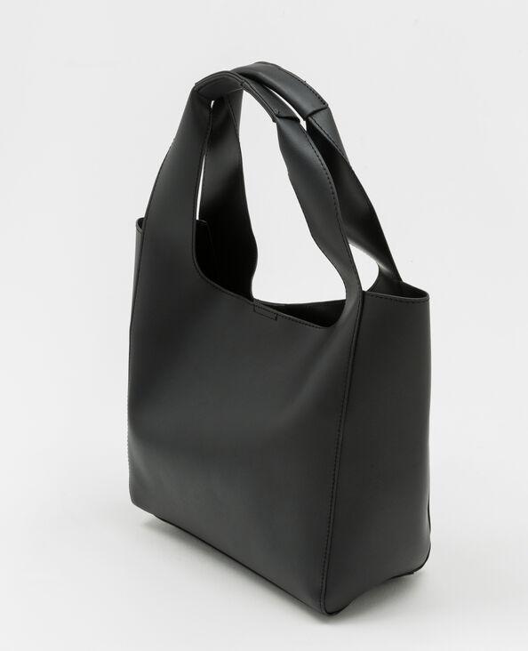 Soepele shopper zwart
