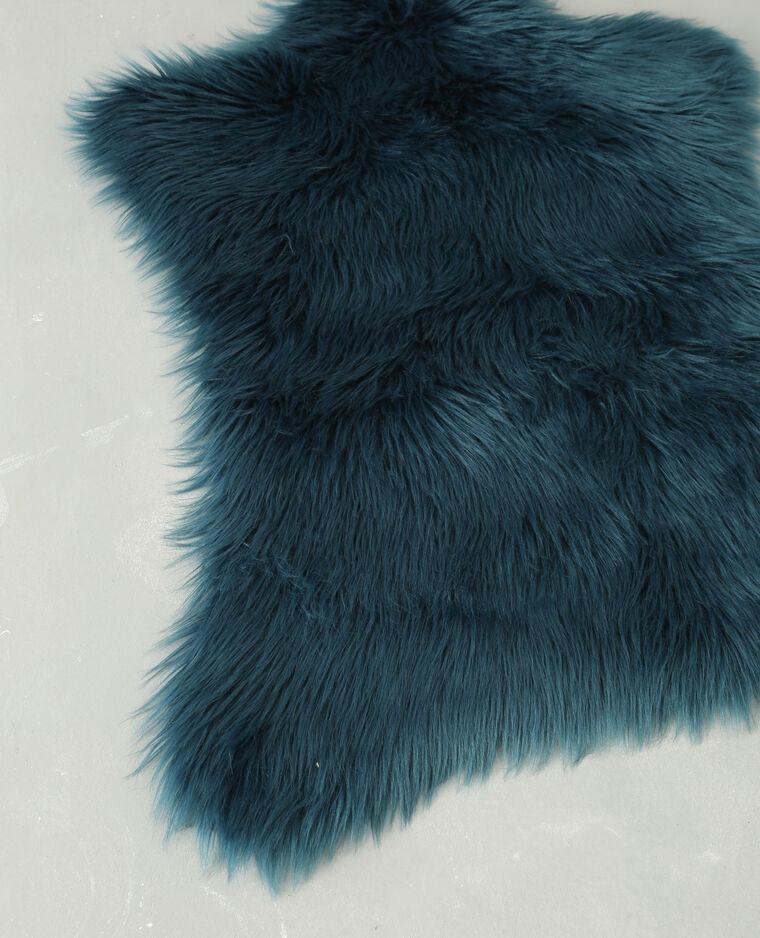 tapis fausse fourrure bleu canard 955094b36a06 pimkie. Black Bedroom Furniture Sets. Home Design Ideas