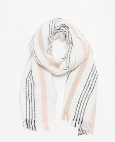 Gestreepte sjaal wit
