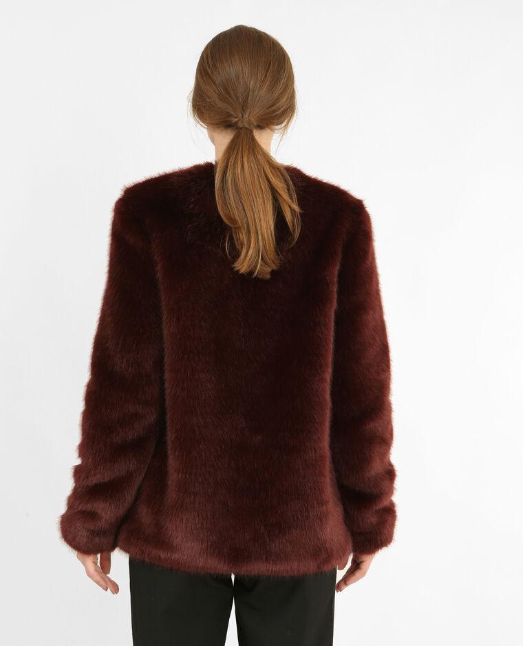 manteau en fausse fourrure grenat 280149326a03 pimkie. Black Bedroom Furniture Sets. Home Design Ideas