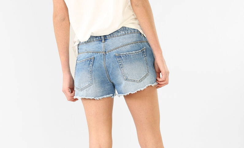 Destroyed minishort blauw