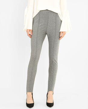 Fuseau stretch gris chiné