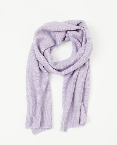 Sjaal van tricot vioolpaars
