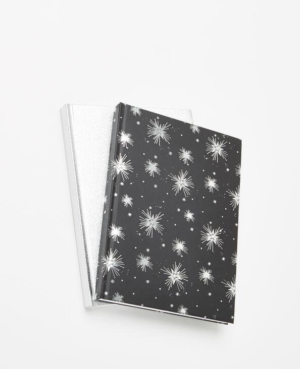 Set van 2 notitieboekjes antracietgrijs