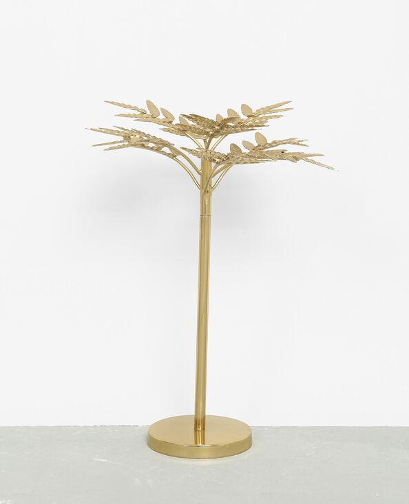 Palmier en métal décoratif doré
