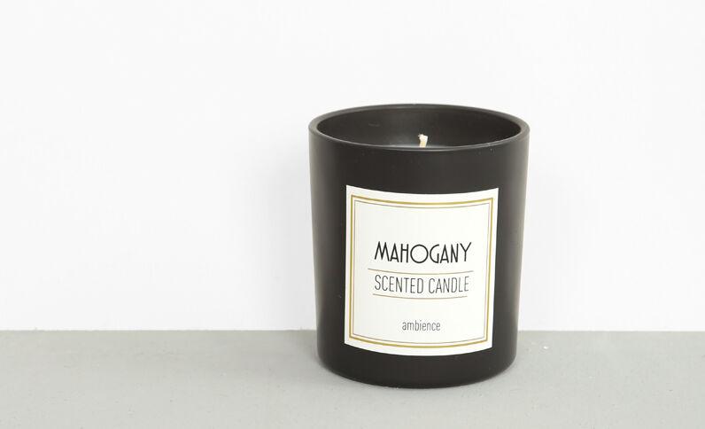 Mahogany'-geurkaars zwart
