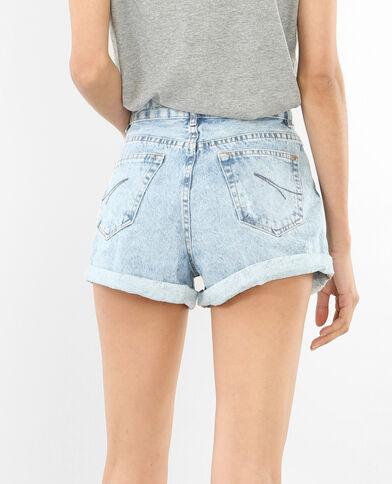 Short van verwassen jeans verwassen blauw