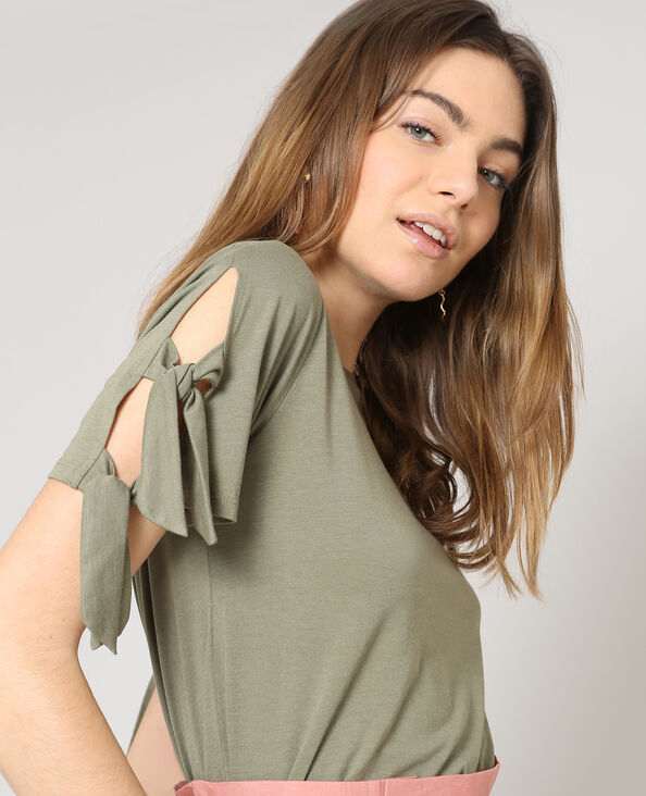 T-shirt met korte mouwen groen