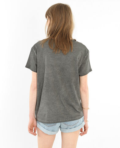T-shirt licence Nirvana gris anthracite