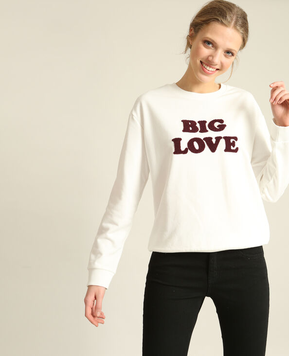 Sweater met tekst wit