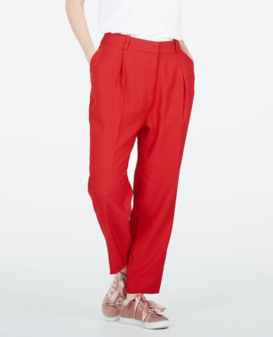 Pantalon city rouge