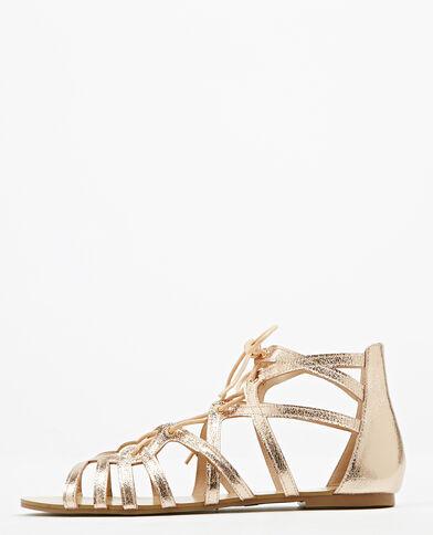 Platte sandalen roze