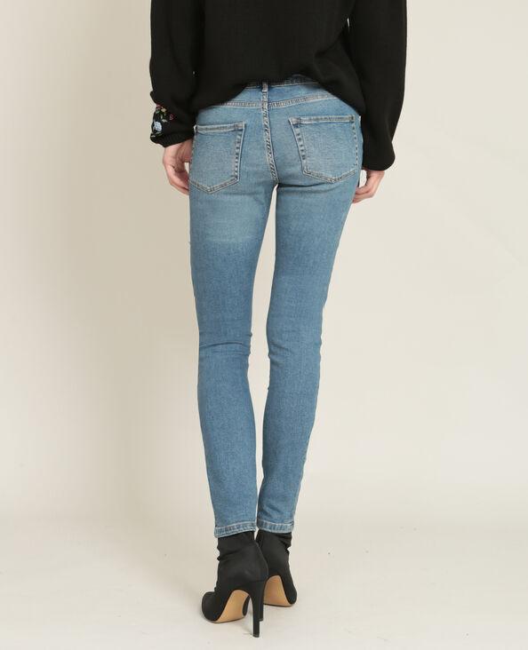 Jean skinny mid waist bleu