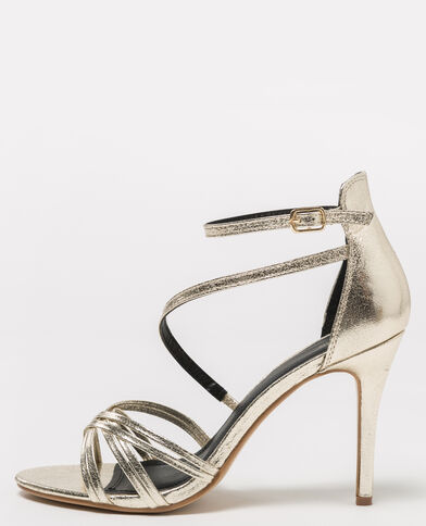 Goudkleurige sandalen goudkleurig