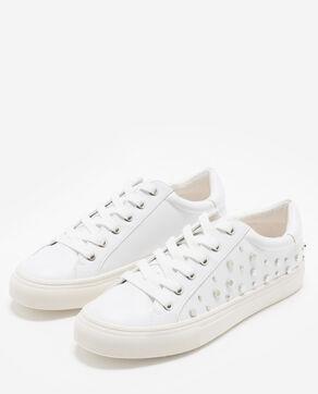 Baskets met studs wit
