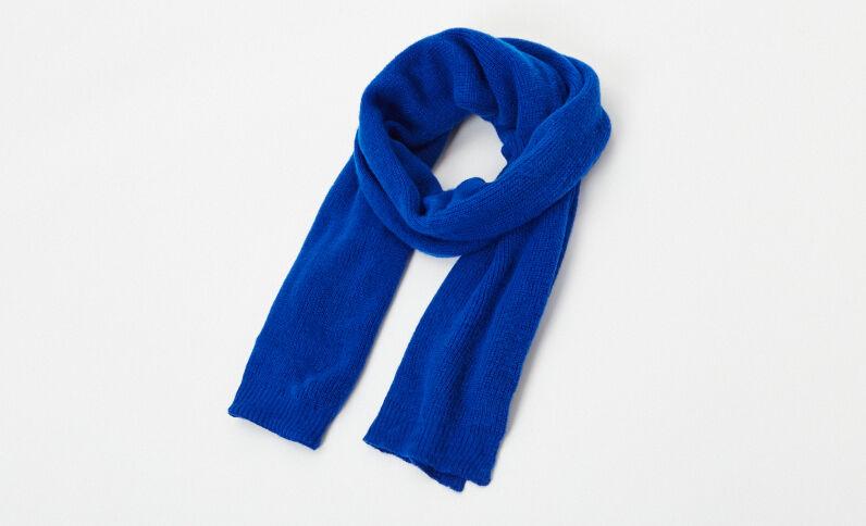 Warme sjaal blauw