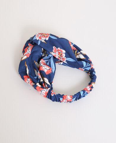 Headband fleuri bleu marine