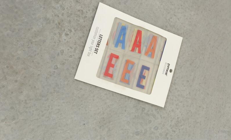 Kleurrijke letters voor Lightbox karamel