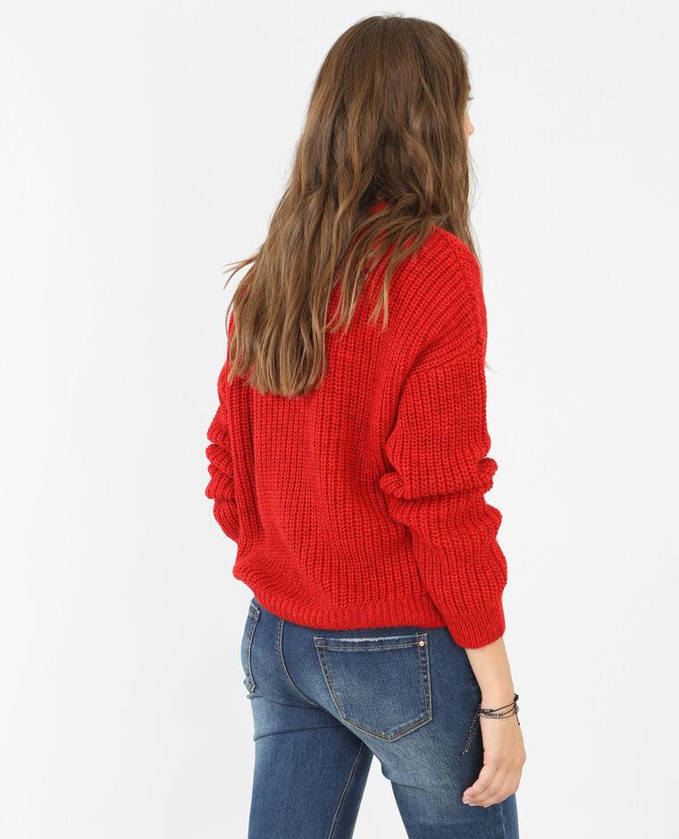 Dikke gebreide trui Rood