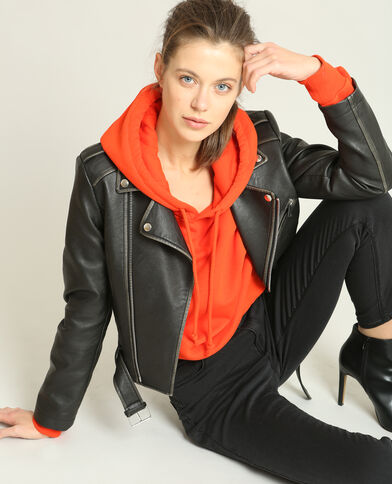Sweat cropped rouge