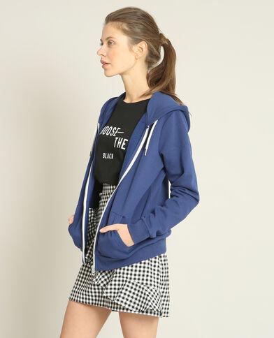Sweater met rits donkerblauw