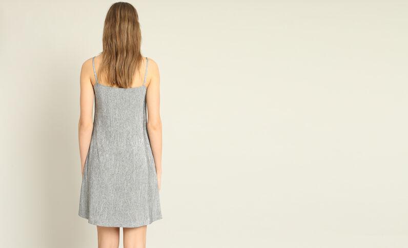 Gestructureerde jurk grijs
