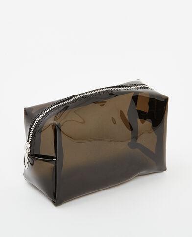 Trousse de maquillage translucide noir