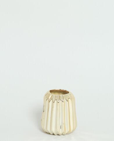Kleine gestreepte vaas goudkleurig