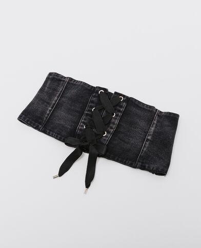 Korsetriem van jeans zwart