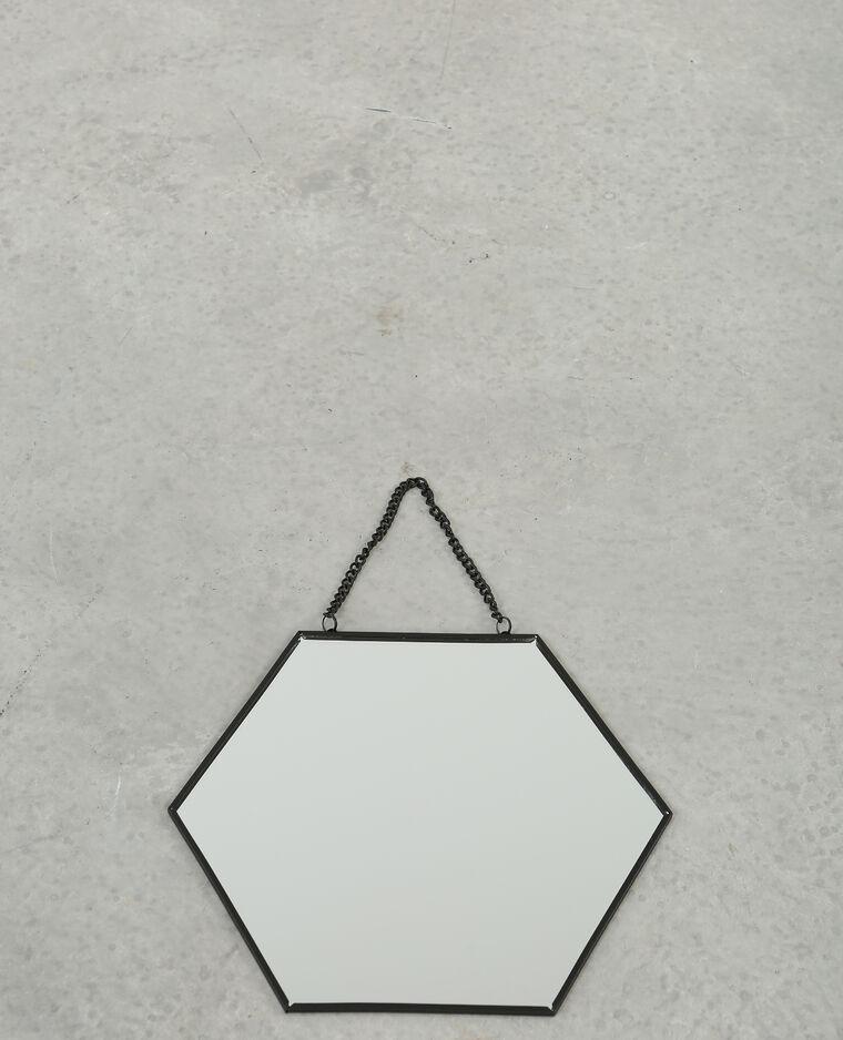 Petit miroir hexagonal noir 975083899a4g pimkie for Miroir hexagonal