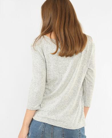 T-shirt met sieraden grijs