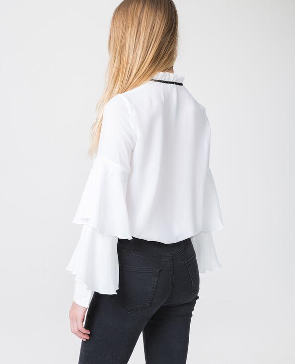 Chemise volantée blanc