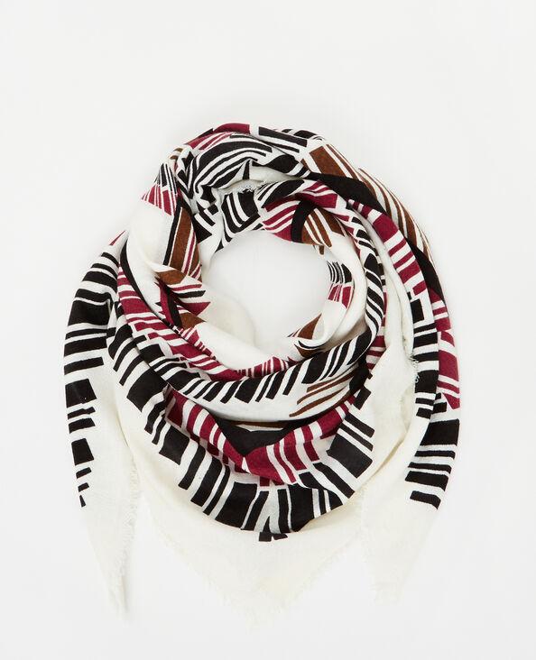 Etnische sjaal met print wit