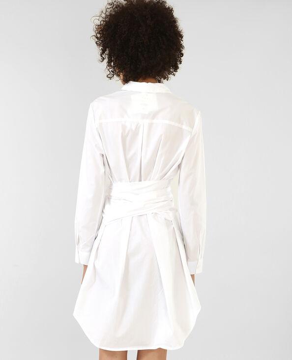 Robe chemise écru