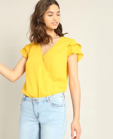 Blouse croisée jaune