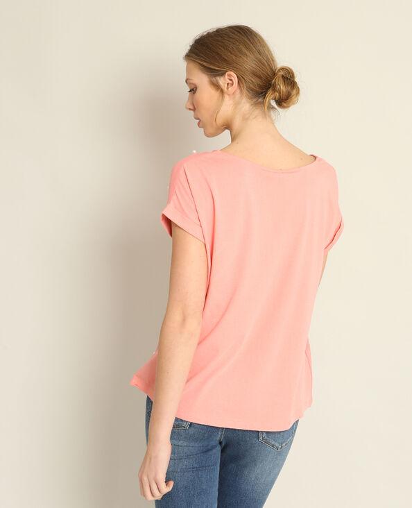 T-shirt met parels roze
