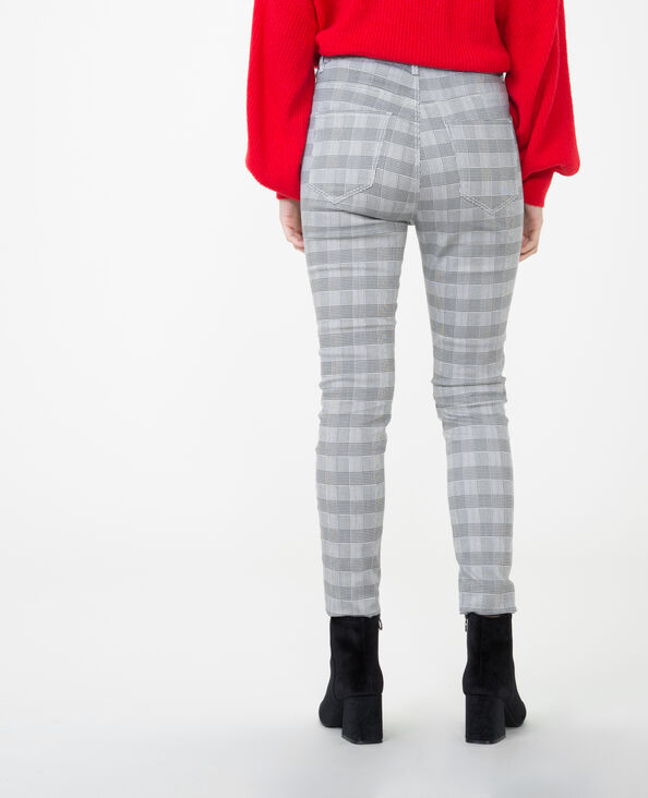 Pantalon skinny prince de Galles gris