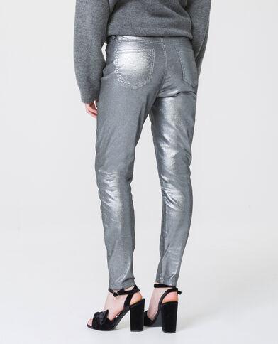Skinny met hoge taille zilvergrijs