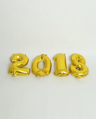 Ballon 2018 goudkleurig